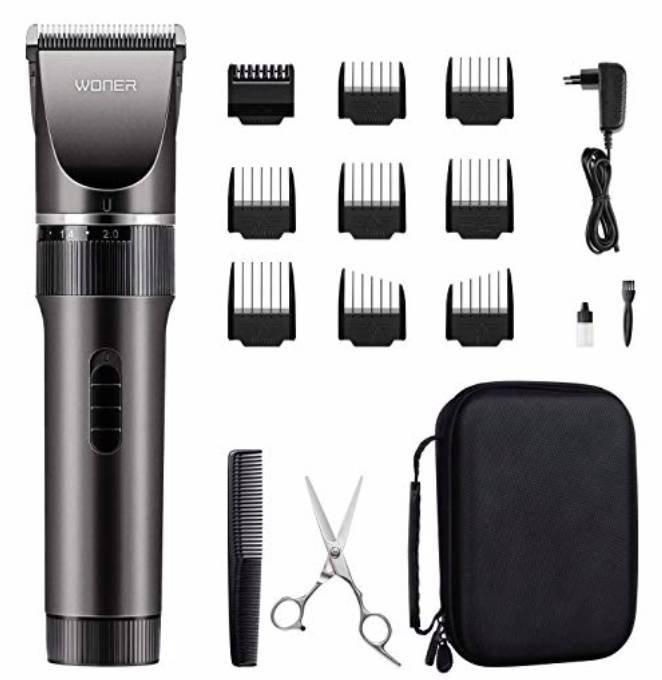 Woner Haarschneidemaschine für Akku- und Netzbetrieb nur 19,49€ (statt 39€)