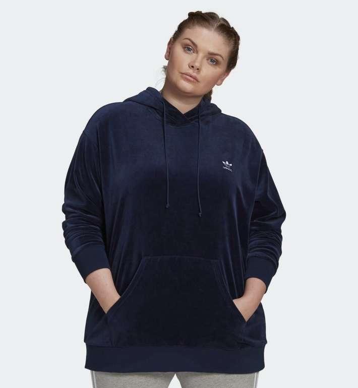 Adidas Originals Damen Velour Trefoil Hoodie (große Größen) für 32,50€ inkl. Versand (statt 39€)