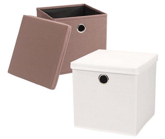 4er Set Echtwerk Aufbewahrungs-Faltboxen (IKEA Expedit Regale) für 19,99€