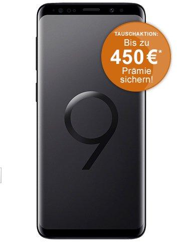 Samsung Galaxy S9 (99€) + Vodafone Smart L mit 7GB LTE Volumen für 41,99€ mtl.