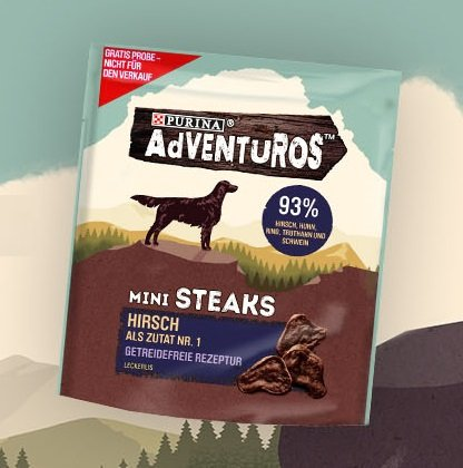 Purina Adventuros Hundesnacks 15 Gramm Gratismuster kostenlos bestellen
