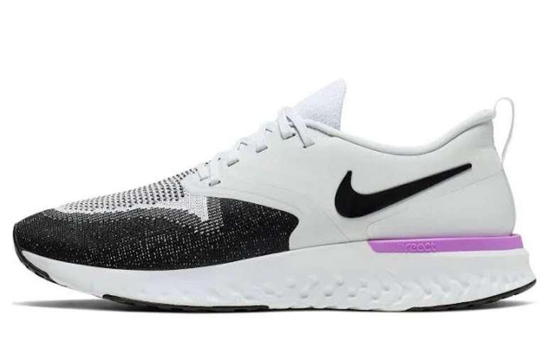 Nike Sport-Schuhe 'Odyssey React Flyknit 2' in lila / schwarz / weiß für 50,91€ inkl. Versand (statt 89€)