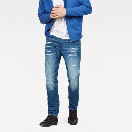 G-Star RAW 3301 Straight Tapered Medium Aged Ripped Jeans für 59,97€