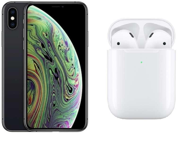 Apple iPhone XS 64GB (4,95€)+ Airpods 2 (2019) mit Vodafone Smart L Plus (18GB) für 36,99€ mtl.