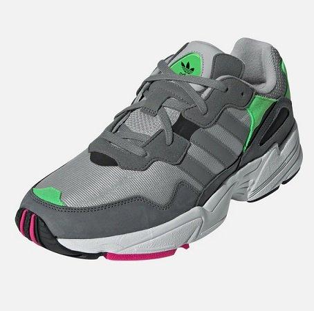 adidas Originals Sneaker 'Yung-96' in grau / dunkelgrau / kiwi für 42,42€