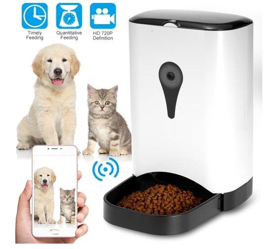 Gadget: Futterautomat mit 720p Kamera, WLAN und Portionierer für 100,79€