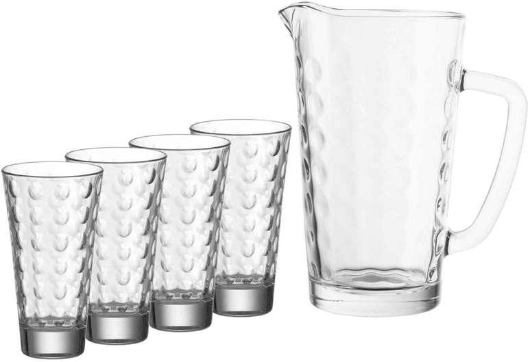 Leonardo Ciao Optic Gläser-Set (4 Longdrink-Gläser + 1 Liter Krug) für 9€ inkl. Versand