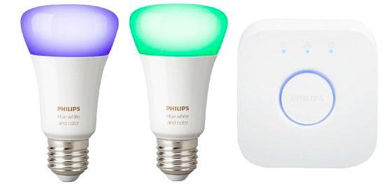 Philips Hue White & Color mit 2x E27 Lampen & Bridge für 80,50€ inkl. Versand