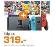 Nintendo Switch Konsole + Super Smash Bros. Ultimate zu 319€ (+ weitere Bundles)