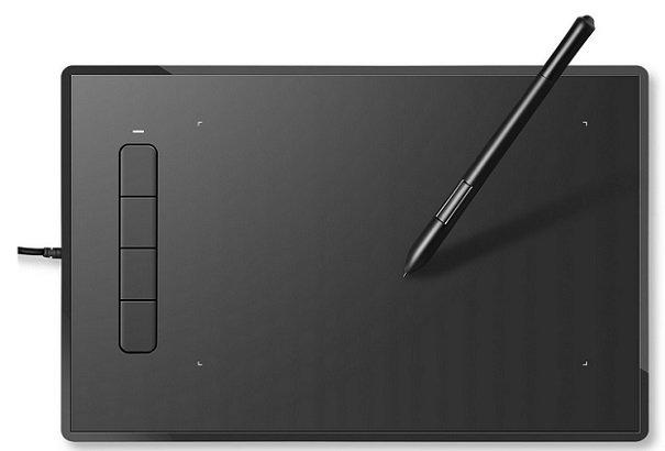 INTEY - 9 x 6 Zoll Grafiktablett mit 4 Tasten & Stift für 40,29€ inkl. VSK