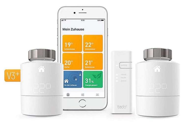 tado Heizkörper-Thermostat Starter Kit V3+ mit 2 Thermostaten für 99,90€ inkl. Versand (statt 140€)