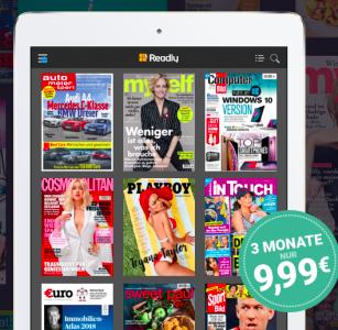 3 Monate Readly Magazin-Flatrate für 9,99€ (statt 29,97€)