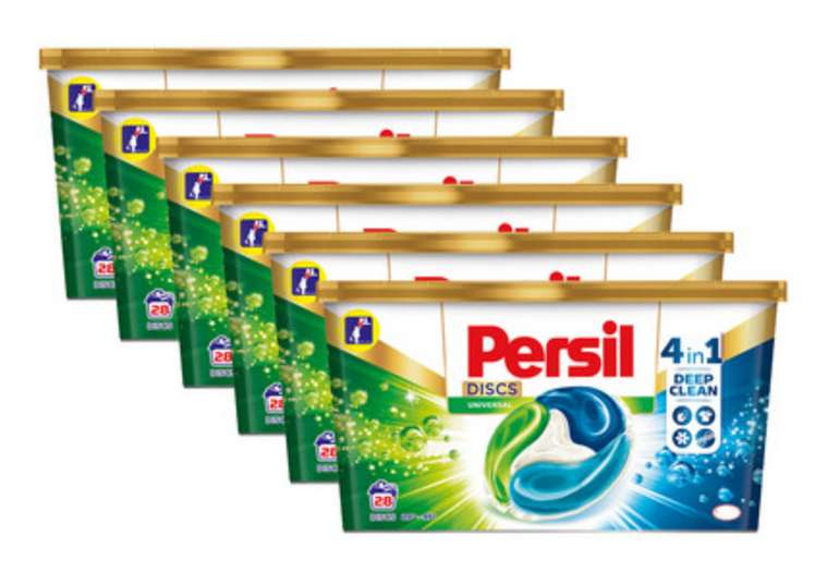 168x Persil Discs Universal 4-in-1-Waschkapseln für 38,90€ inkl. Versand (statt 50€)