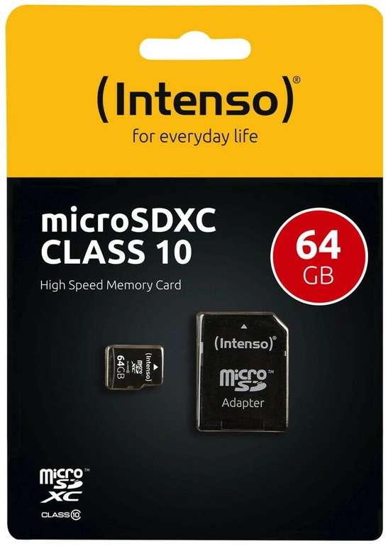 Intenso Micro SDXC Karte 64GB Speicherkarte Class 10 für 6,99€ (statt 10€)