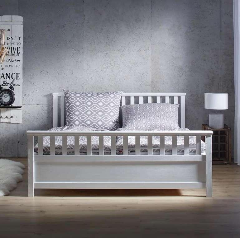 "Bessagi Holzbett ""Pina"" in Weiß (180x200cm) für 169,25€inkl. Versand (statt 230€)"