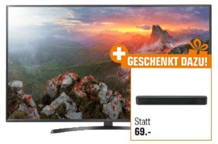 LG 55UK6470PLC – 55 Zoll 4K Fernseher + LG SK1 Soundbar für 538,90€ (statt 662€)