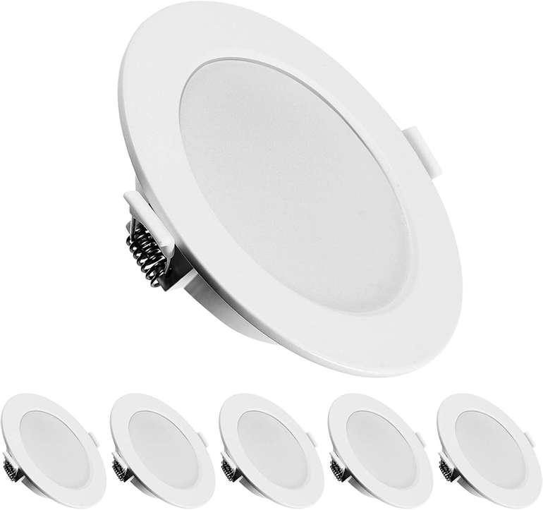 Kingso 6er Pack LED Einbaustrahler (6W, IP44, 3000K) für 18,49€ inkl. Versand (statt 37€)