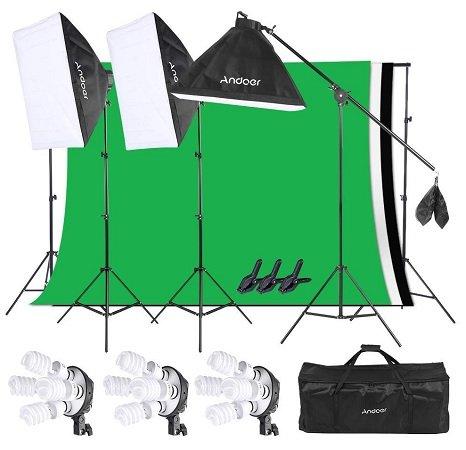 Andoer Softbox Fotostudio mit viel Zubehör für 84,49€ inkl. VSK