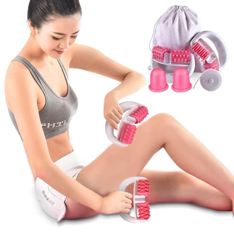 Bestope Anti Cellulite Massageroller & Schröpfen Cup Set für 10,49€ inkl. Prime Versand (statt 21€)