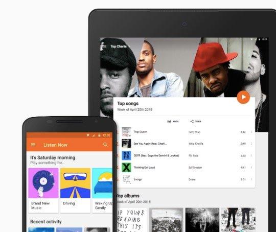 3 Monate Google Play Music kostenlos für Neukunden (statt 9,99€ mtl.)
