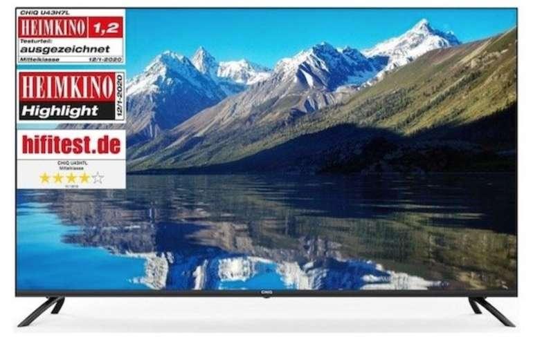 """CHiQ U55H7L - 55"""" Ultra-HD 4K LED Smart TV mit WLAN und Bluetooth für 355,99€ inkl. Versand (statt 385€)"""