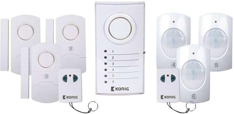 König SAS-ALARM120 Drahtloses Alarmsystem für 14,99€ inkl. Versand (statt 28€)