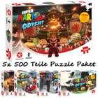 5er Set Super Mario Odyssey Puzzle (5x 500 Teile) für 42,49€ (statt 65€)