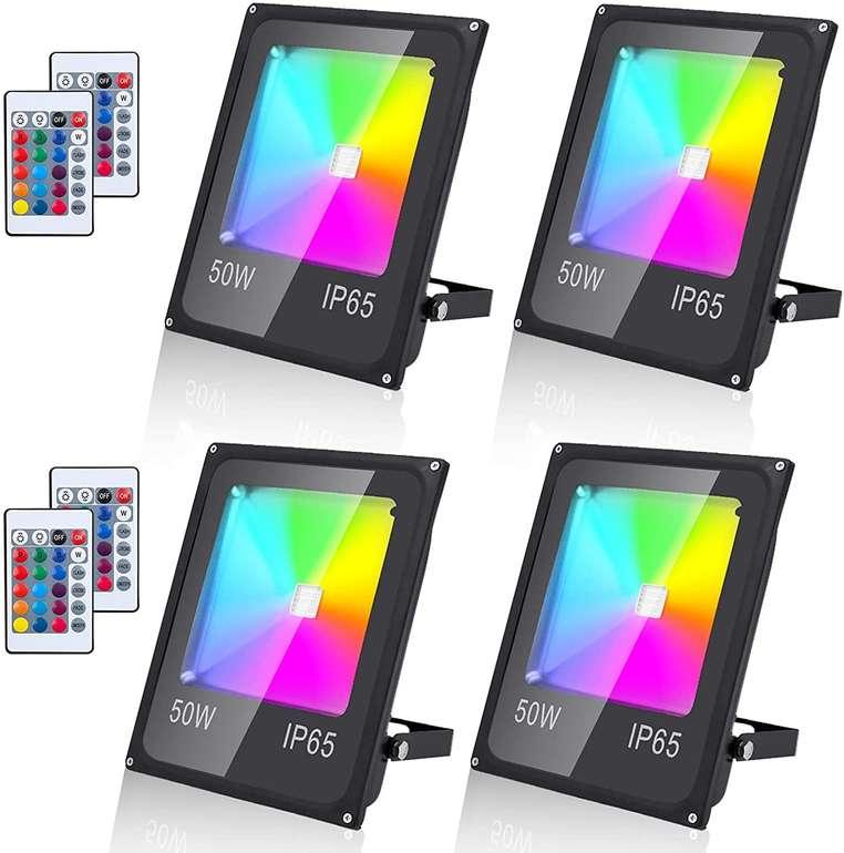 Faziango 4er Pack LED Strahler (RGB, IP65) für 45,59€ inkl. Versand (statt 76€)