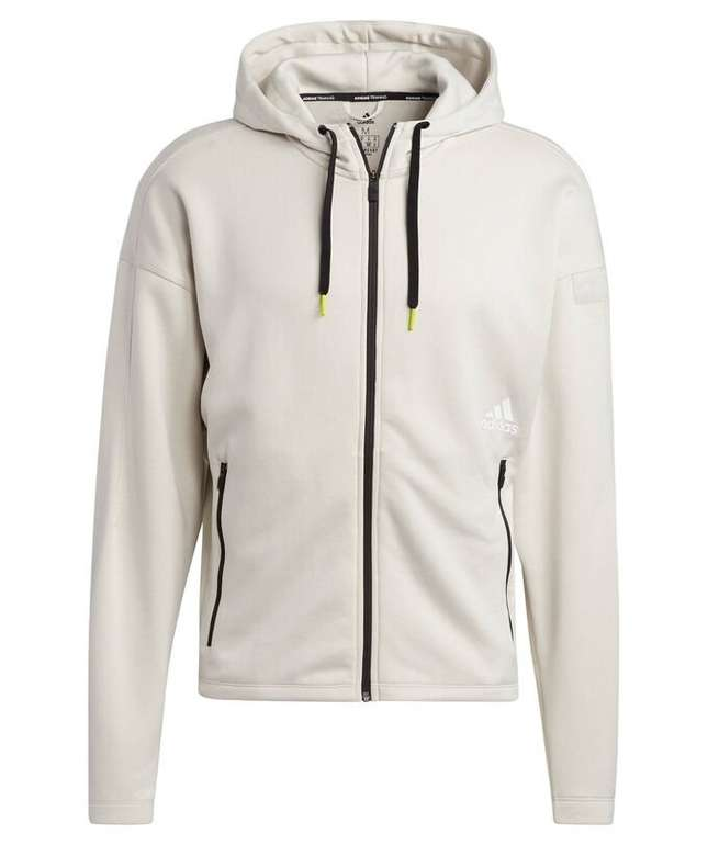 Adidas Performance Herren Sweatshirtjacke mit Kapuze in Beige für 53,72€ inkl. Versand (statt 60€)