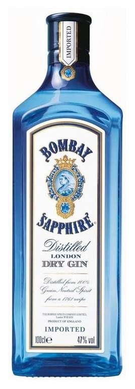 Bombay Sapphire mit 47% vol Alkoholgehalt - 1 Liter für 22,90€ inkl. Versand (statt 28€)