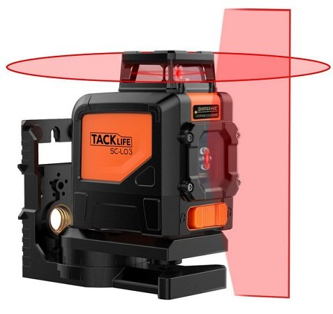 Tacklife - SC L03 Klassischer Kreuzlinien-Laser mit 30m Messbereich für 49,99€