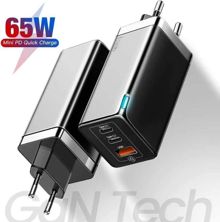 Baseus 65W USB C Ladegerät mit GaN Tech für 24,99€ inkl. Versand (statt 46€)