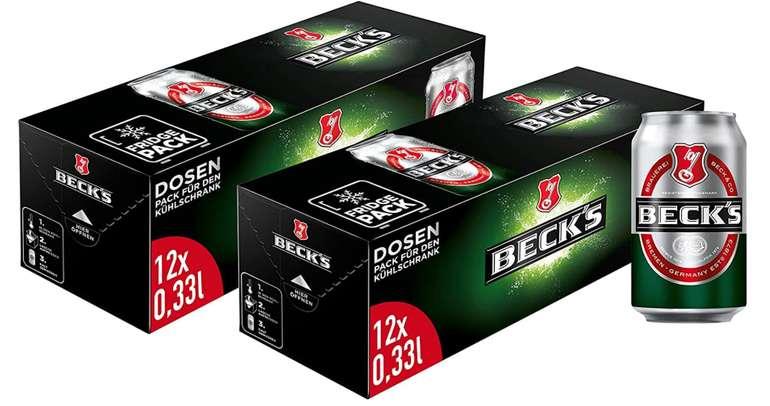 Pfandfehler bei Amazon - z.B. 24 Dosen Beck's Pils Dosenbier Fridgepack für 19,82€ (-6€ Pfand)