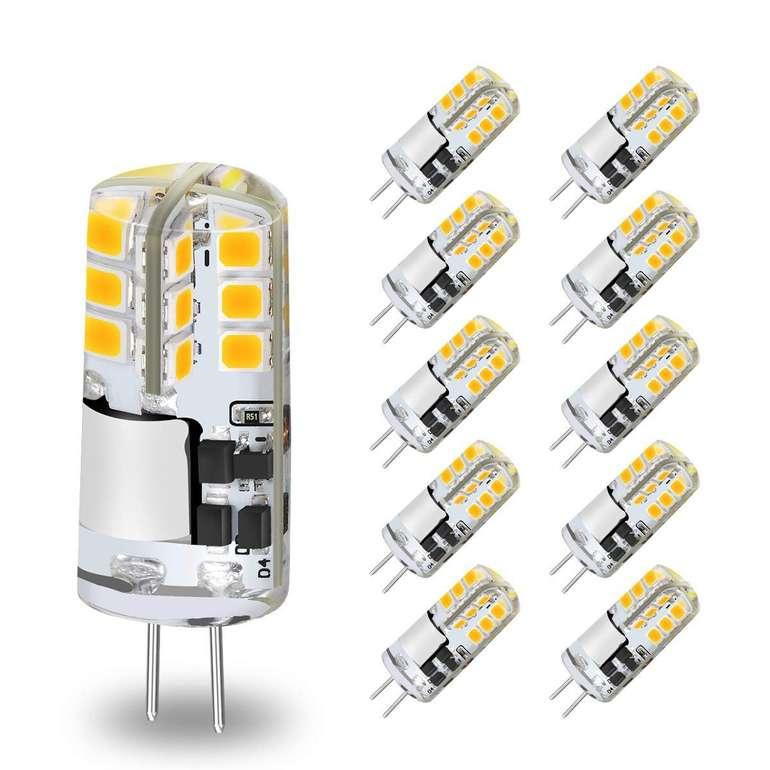 Kingso G4 LED Lampen im 10er Pack (3W, 3000K, 300LM) für 11,39€ inkl. Prime Versand
