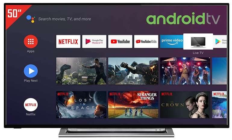 Toshiba 50UA3A63DG - 50 Zoll Android TV (4K UHD, HDR, Triple-Tuner, Smart TV, Bluetooth) für 299€ (statt 420€)