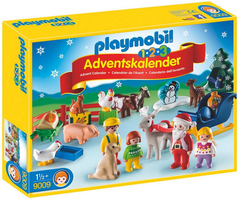 """Playmobil 1.2.3 Adventskalender """"Weihnacht auf dem Bauernhof"""" für 15,94€"""