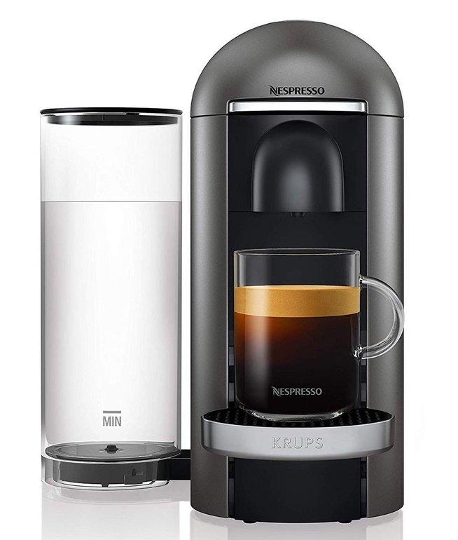Krups XN900T Nespresso Vertuo Plus Kaffeemaschine Titanium für 99€ (statt 129€)