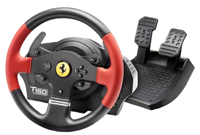 Thrustmaster T150 Ferrari Racing Wheel Pedal-Set für 117€ (statt 163€)