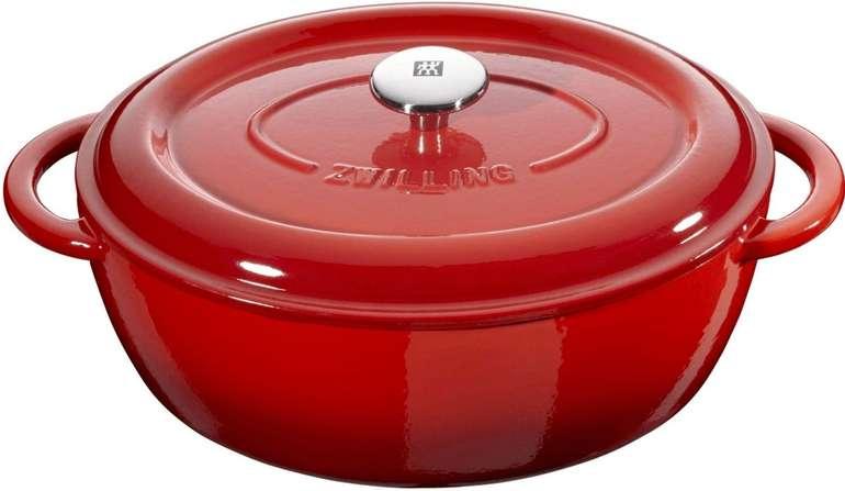 Zwilling Cocotte Schmortopf (29cm) in Rot aus Gusseisen für 63,89€ inkl. Versand (statt 204€)