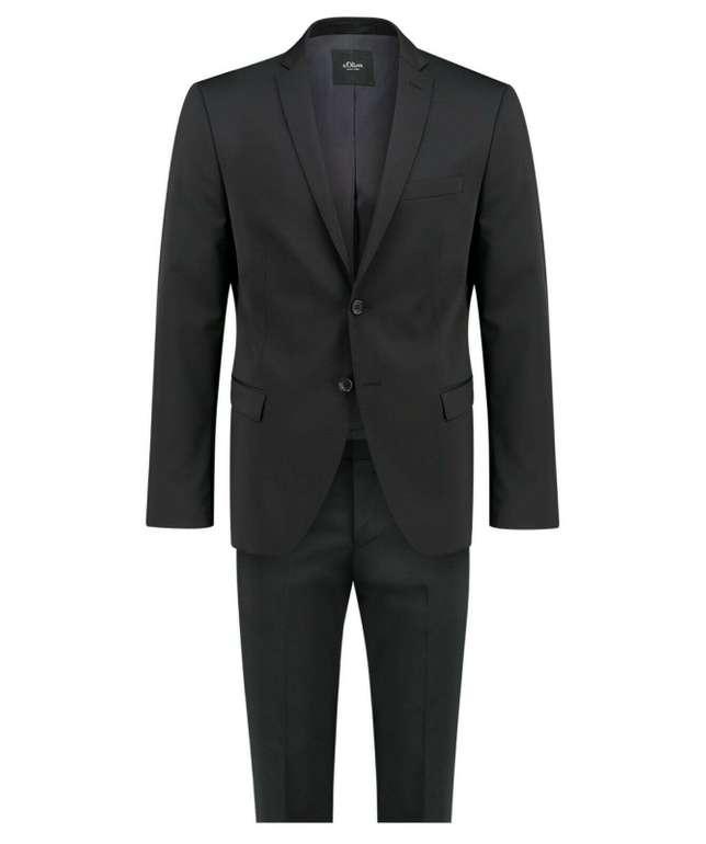 """s.Oliver """"Cosimo"""" Anzug in Slim Fit und Schwarz für 99,90€ inkl. Versand"""