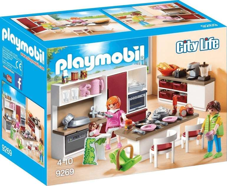 Playmobil City Life - Große Familienküche (9269) für 11,99€ inkl. Prime Versand (statt 21€)