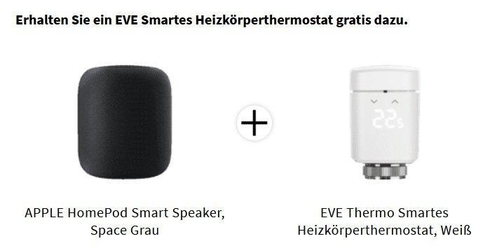 Apple HomePod Smart Speaker + EVE Thermostat