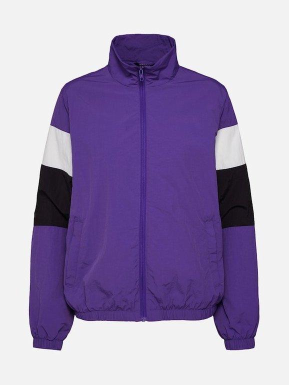 Urban Classics Damen Jacke '3-Tone Crinkle Track' in lila für 26,91€ inkl. VSK (statt 37€)