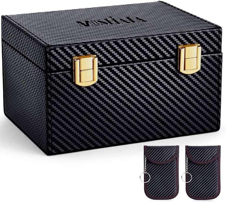 Mosfiata Autoschlüssel-Signalblockierungsbox + Taschen für 15,99€ (statt 20€)
