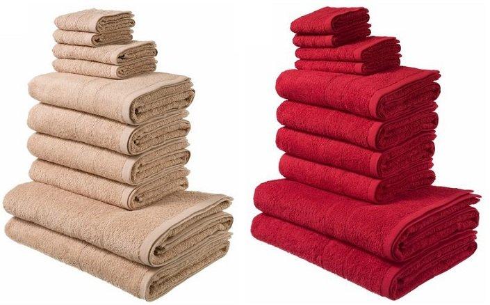 """My Home - Handtuch Set """"Inga"""" mit feiner Bordüre für 19,99€ inkl. VSK"""