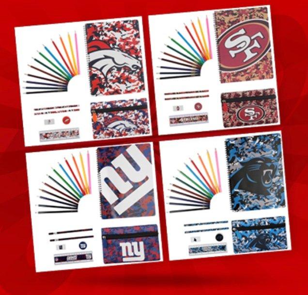 NFL Ultimate Schreibwaren Sets für je 1,11€ zzgl. 3,95€ Versand (statt 8€)