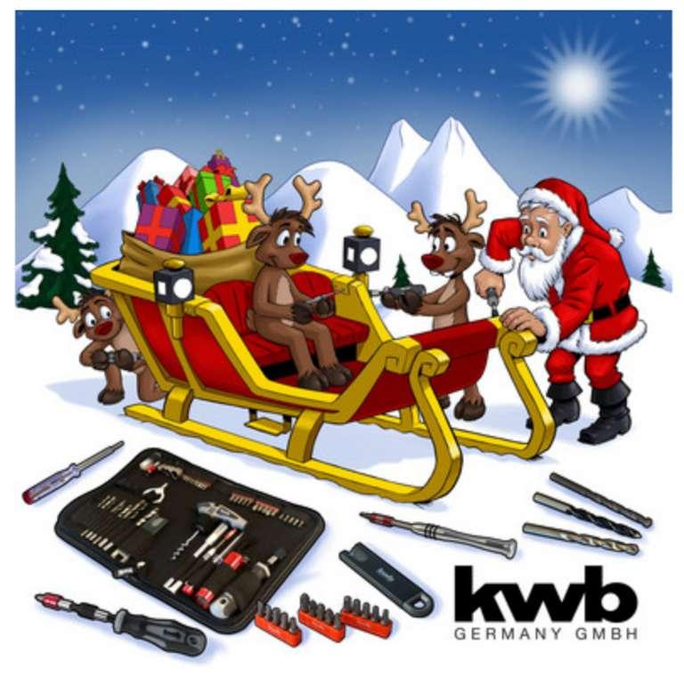 KWB Werkzeug-Adventskalender (2018) mit 24 Werkzeugartikeln für 20,90€inkl. Versand (statt 33€)