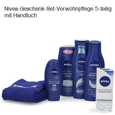 Nivea-Geschenk-Set-Verwöhnpflege 5-teilig mit Handtuch für 7,99€ (statt 16€)
