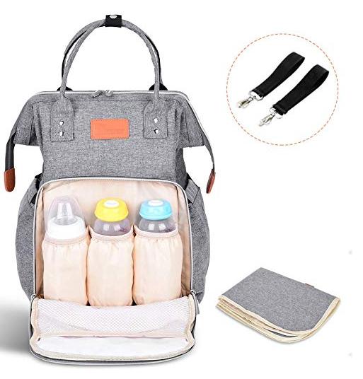Tomount Baby Wickeltasche mit Wickelunterlage + 2 Haken für 15,99€ (Prime)