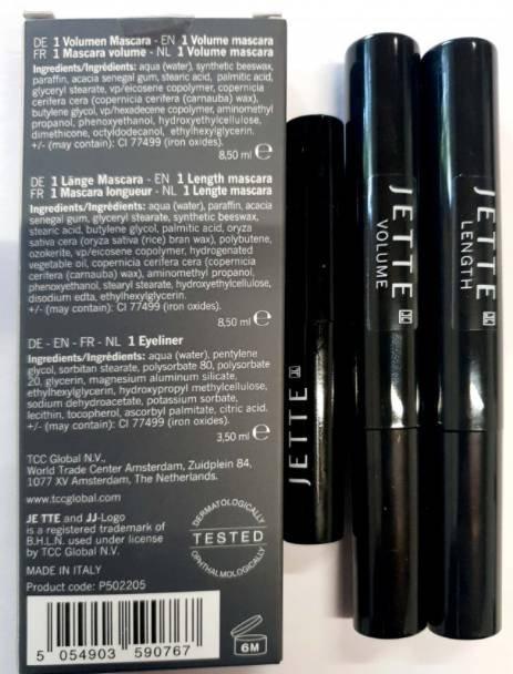 3er Set: Jette Joop Beauty Volumen & Länge Mascara + Eyeliner 5,99€ + 3,90€ VSK